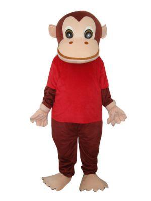 Monkey Orangutan Gorilla in Red Shirt Mascot Costume