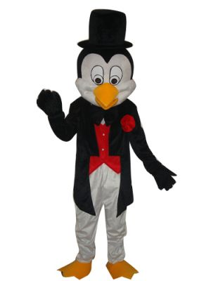 Mr. Penguin in Black Mascot Costume