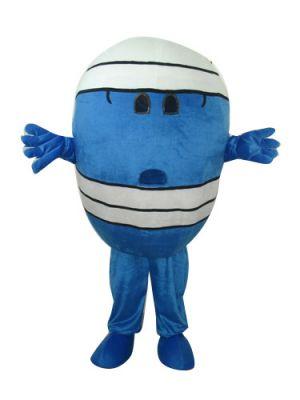 Mr. Wrestler Blue Egg Mascot Costume