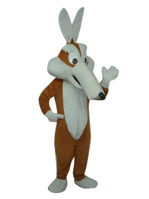 Long-Nosed Brown Coyote Mascot Costume