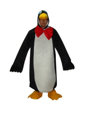 Penguin Face Out Mascot Costume