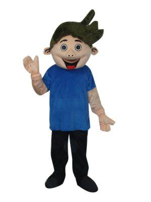 Permed Hair Marcel Boy Sz Mascot Costume