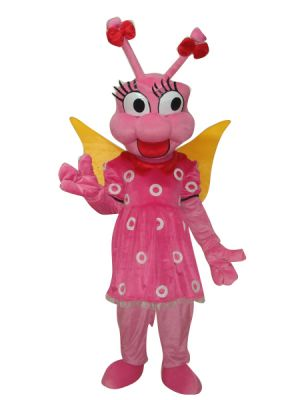 Pink Bee Insect Mascot Costume
