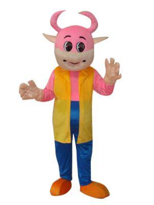 Pink Cute Cow in Mascot Costume