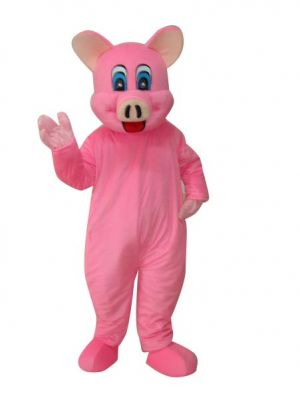 Pink Pig Mascot Costume fursuit