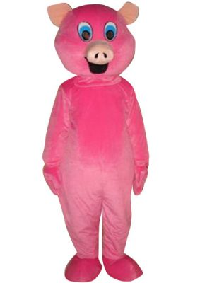 Pink Pig Animal Mascot Costume