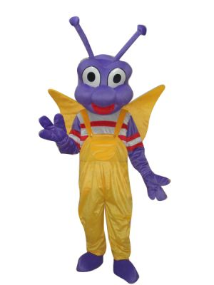 Purple Bee Insect Mascot Costume