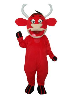 Red Ox Cow Clothing Mascot Costume
