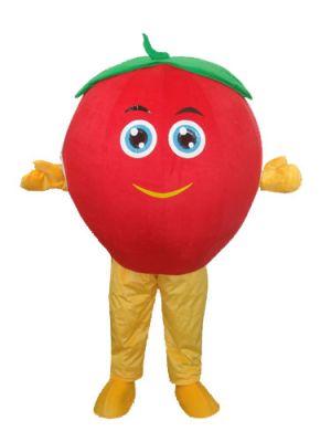 Red Apple Mascot Costume