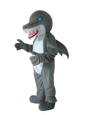 Shark Gray Grey Mascot Costume
