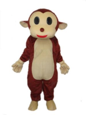 Discounted Red Soft Monkey Orangutan Gorilla Mascot Costume w smile