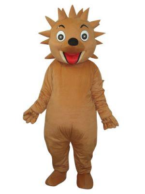 Smiling Brown Hedgehog Mascot Costume