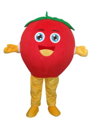 Smiling Red Apple Mascot Costume