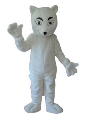 White Fox Mascot Costume