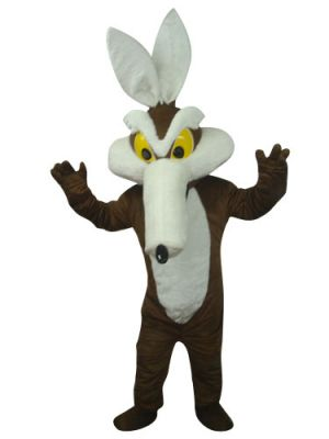 Brown Coyote Mascot Costume
