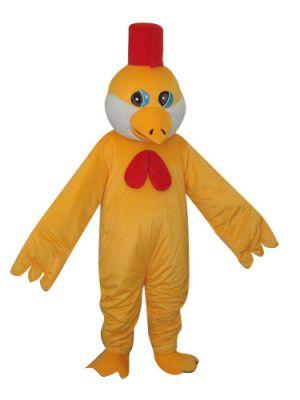 Yellow Chicken w Red Hat Mascot Costume