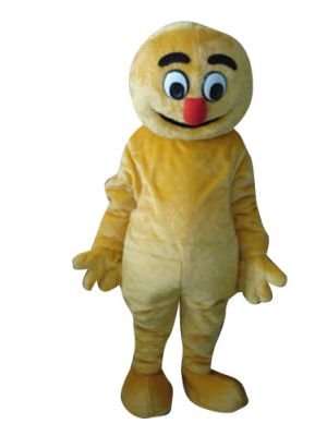 Yellow Monster Mascot Costume