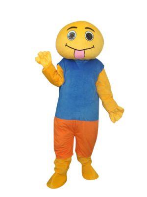 Yellow Doll Mascot Costume