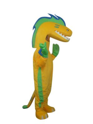 Yellow Eel Mascot Costume