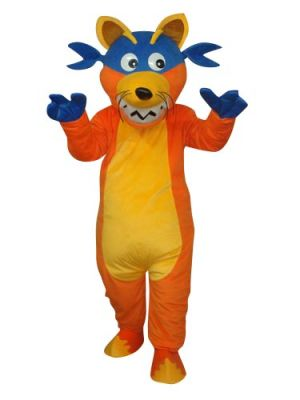 Yellow Fox with Goggles Mascot Costume