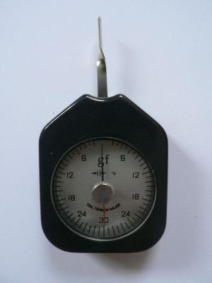 Dial Tension Gauge Gram Force Meter Dual Pointer 30 g