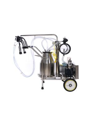 Portable Cows Milking Machine Electric Cow Milker 304 SS One Bucket