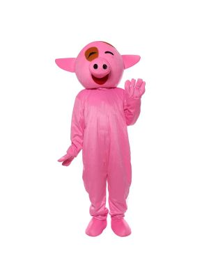 Smile Pink McDull Pig Mascot Costume