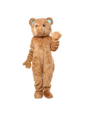 Deluxe Long Plush Bown Honey Bear Mascot Costume