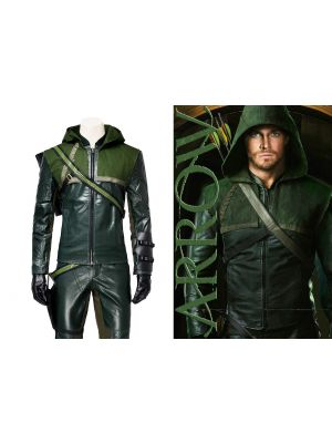 Green Arrow Costume Oliver Queen Halloween Cosplay Costumes