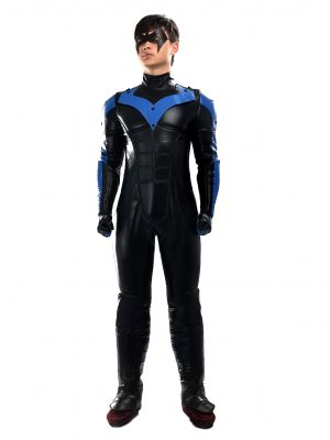 Men's Batman Young Justice Nightwing Cosplay Costume