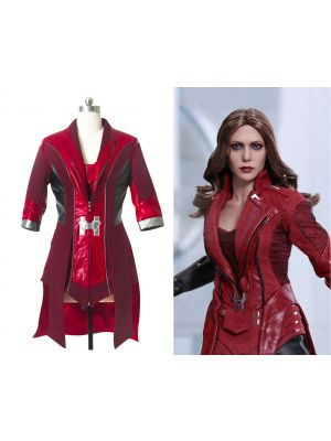 The Avengers 2 Scarlet Witch Coat Cosplay Costume Halloween Clothing
