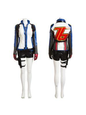 Overwatch Soldier 76 Women's Uniform Cosplay Costume Customized