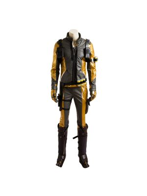 Gold Version Overwatch Soldier 76 Uniform Cosplay Costume