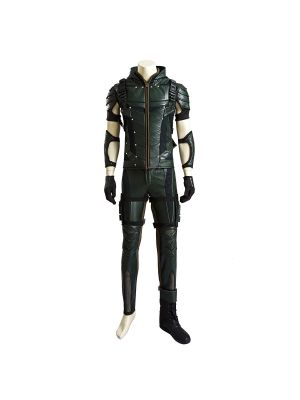 New Ventilated Green Arrow Season 4 Oliver Queen Cosplay Costume