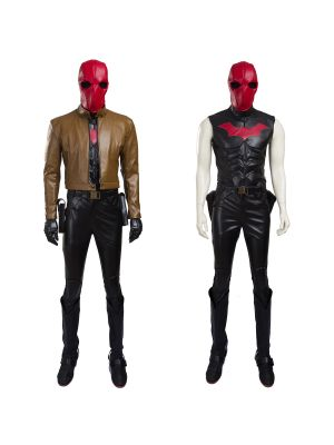 Batman Jason Todd Red Hood Cosplay Costume Full Set
