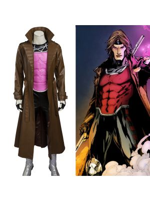 X-Men Remy Etienne Gambit Cosplay Costume Full Set