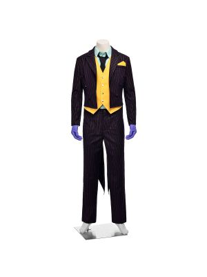 Batman Arkham City Joker Cosplay Costume Full Set