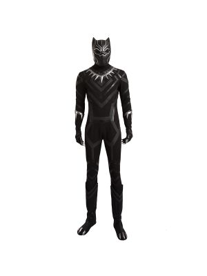 Captain America Civil War Black Panther Cosplay Costume Leather Outfit
