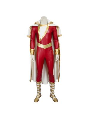 Captain Marvel Billy Batson Shazam Cosplay Costume