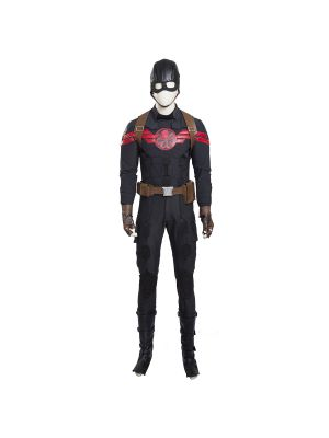 Captain America Steve Rodgers Hydra Cosplay Costume Full Set