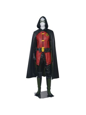 Young Justice League Teen Titans Robin Cosplay Costume Full Set