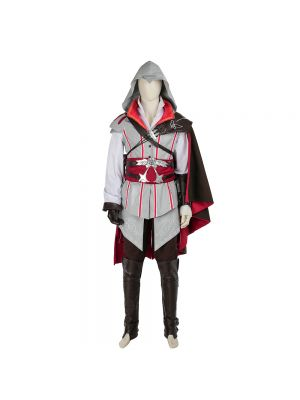 New White Assassin's Creed 2 Ezio Auditore da Cosplay Costume