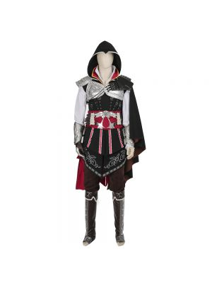 New Assassin's Creed 2 Black Ezio Auditore da Firenze Cosplay Costume