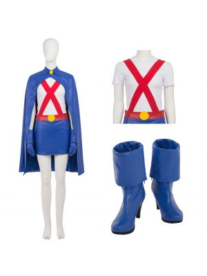 Young Justice Miss Martian Cosplay Costume Full Suit with Boots