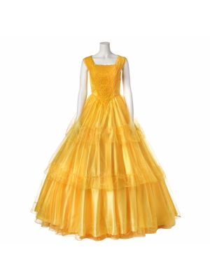 2017 Beauty and The Beast Princess Belle Dress Cosplay Costume
