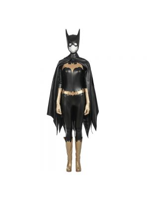 Full Set Batgirl Cosplay Costume Deluxe Leather Outfit