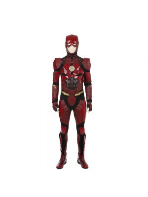 Justice League The Flash Barry Allen Cosplay Costume Full Set