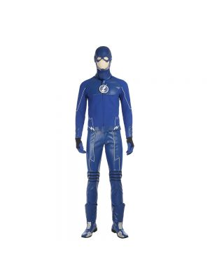 The Flash Cobalt Blue Cosplay Costume Full Set with Boots