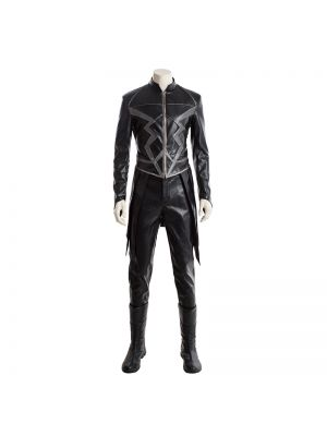 Inhumans Black Blot Cosplay Costume Full Set with Boots