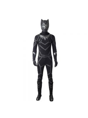 New Black Panther T'Challa Cosplay Costume Halloween Clothing Full Set